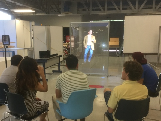 Holographic Telepresence Class transmitted from Zacatecas to Monterrey
